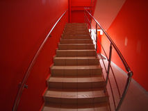 Staircase with steps to the second floor Stock Photos
