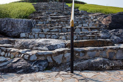 Staircase in stone Royalty Free Stock Photos