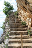 Staircase. Stone staircase on the edge of the cliff Royalty Free Stock Photos