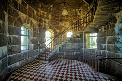 Staircase in stone room Stock Image