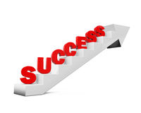 Staircase with Success Text Royalty Free Stock Photos