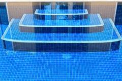 Staircase swimming pool Royalty Free Stock Photos