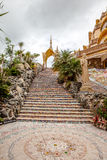 Staircase in the temple Stock Image