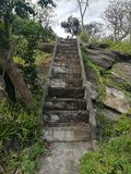 Staircase of Thailand Temples and pagodas are Beautiful cultural attractions on the mountain in Northern of Thailand. Staircase of Temples and pagodas are Stock Images