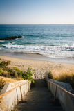 Staircase to the beach in Malibu, California. Royalty Free Stock Photography