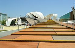Staircase to the Germany EXPO Milano 2015 pavilion. Stock Image