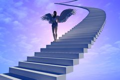 Staircase to heaven. Stock Photos