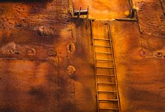 The staircase to nowhere. Close view royalty free stock photography