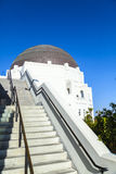 Staircase to the observatory in Griffith Park in Los Angeles Royalty Free Stock Photos