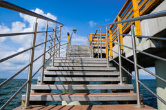 Staircase to pier Stock Photography