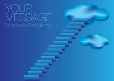 Staircase to Sky Vector Illustration Royalty Free Stock Photography