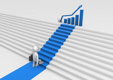 Staircase to success Royalty Free Stock Image