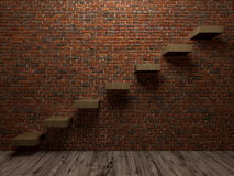 Staircase to success interiors perspective Royalty Free Stock Photos