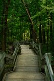 Staircase to the trails. Royalty Free Stock Photography