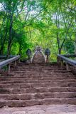 Wat Banan stairs to the temple, Battambang. Staircase to the Wat Banan temple, Battambang, Cambodia royalty free stock photography
