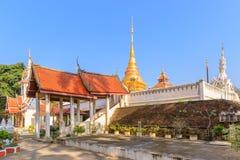 Staircase to Wat Pong Sanuk temple, Lampang, North of Thailand.  stock photo