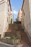 Staircase in the town Banyuls-sur-Mer, France Stock Photo