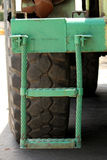 Staircase truck. Staircase green coal of truck car royalty free stock images