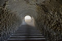 Staircase in a tunnel Royalty Free Stock Photos