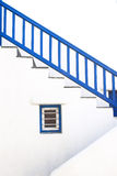 Staircase of typical house in Mykonos Stock Photos