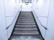 Staircase in underground passage Stock Image