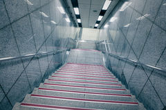 Staircase in underground passage Stock Photos