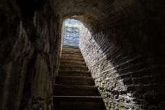 Staircase up from a stockpile Stock Images