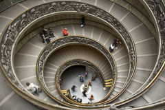 Staircase of the Vatican Museum. In Rome (Italy stock photography