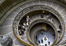 Staircase in Vatican museum Royalty Free Stock Photos
