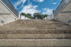 Staircase with vegetation Stock Photography