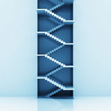 Staircase vertical construction blue background Stock Photography