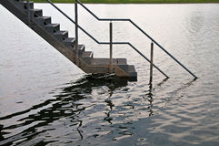 Staircase in water Stock Images