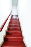 Staircase in white house Royalty Free Stock Photo