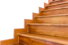 Staircase wooden. Home building interior empty room design staircase concrete top wood stainless steel handrails stock photos
