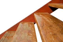 Staircase with wooden steps Royalty Free Stock Image