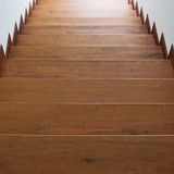 Staircase with wooden steps Stock Photo