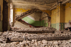 Staircases in an abandoned complex Royalty Free Stock Photos