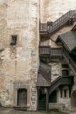 Staircases of Orava castle stock photos