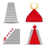Staircases. Vector Royalty Free Stock Photos