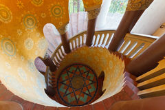 Stairecase in Santa Barbara court. Spiral staircase in Santa Barbara court Stock Photography