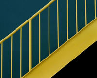 Stairs. An abstract of a stairs railing Stock Photos