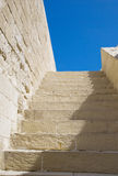 Stairs. Stone stairs against blue sky Stock Photo