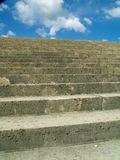 Stairs. Empty stairs and blue sky Royalty Free Stock Photos
