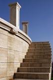 Stairs. Stone stairs towards blue sky royalty free stock photos
