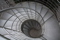 Stairs. Stainless steel stairs in garden Royalty Free Stock Photo