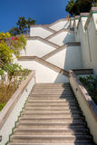 Stairs. In outdoor with white color under blue sky. Famous landmark in Kaohsiung, Taiwan Royalty Free Stock Photography