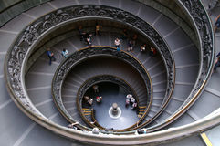 Stairs. Cockle stairs in Vatican City stock images