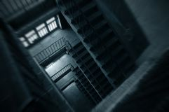 Stairs. And floors interior of building house stock images