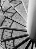 Stairs. Black andwhite spiral stairs Royalty Free Stock Images