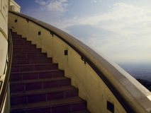 Stairs. Stairway to the Los Angeles observatory stock photo